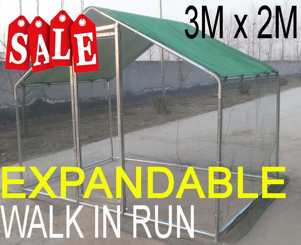 Walk In Chicken Run 3×2 Meter