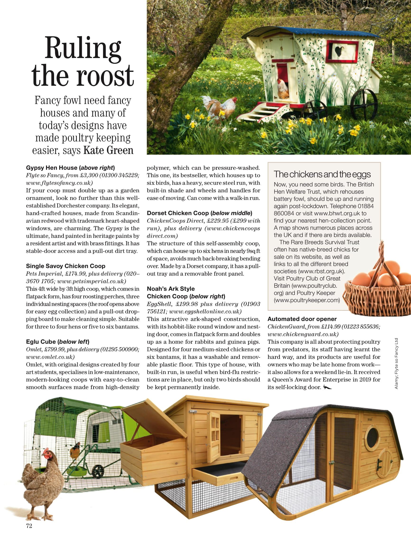 Noah's Ark Chicken Coop in country life magazine