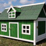 Barn Green Chicken Coop